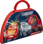 Disney Cars 3 Kleurkoffer Rood/blauw 50-delig 38 X 21 Cm