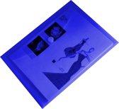 EXXO-HFP # 90126 - A4 Documentenmap - Landschap model - Klitsluiting - Blauw - 1 Pak @ 10 stuks