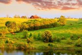 Papermoon Farm Landscape Vlies Fotobehang 250x186cm 5-Banen