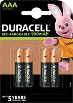 Duracell AAA Oplaadbare Batterijen - 850 mAh - 4 stuks