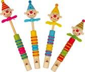 Small Foot Fluit Clowns Propeller Set Van 4 Stuks