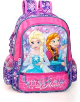 Frozen Elsa en Anna Rugzak - 39 cm hoog - Paars/Roze