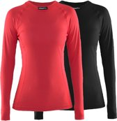 Craft Active 2-Pack Tops Dames Thermoshirt - Black/Beam - M