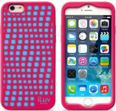 iLuv cover Glow-in-dark Aurora - silicone - roze - voor Apple iPhone 6 - 4.7