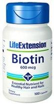 Biotine 600 mcg- 100 Capsules - Life Extension