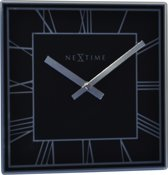 NeXtime Tafelklok Square Glas - Zwart