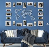 Metalen Wereldkaart Wit 60cm x 100cm - Metal World Map White - Hoagard Wall Deco | Best Seller | Muurdecoratie | Fantastisch Cadeau Idee Voor Reizigers | Perfect Gift for Travel Lovers | L en XL Format
