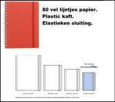 Notitieboekje spiraal a6 rood