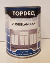 Topdeq Zijdeglansverf - Verf - Zijdeglans - Zwart - 750ml