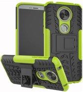 Motorola Moto E5 Plus hoesje - Rugged Hybrid Case - groen