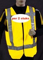 Safeways HiViz reflecterend Veiligheidsvest EN471 Klasse2 (2stuks)