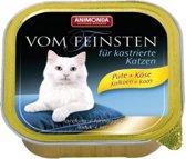 Animonda Vom Feinsten gecastreerde kat - kalkoen kaas - 32x100 gr.