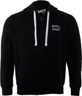 Russell Athletic Zip Through Hooded  - Sporttrui - Mannen - Maat XXL - Zwart