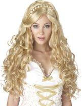 Blonde godin pruik voor vrouwen - Verkleedpruik
