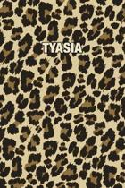 Tyasia: Personalized Notebook - Leopard Print Notebook (Animal Pattern). Blank College Ruled (Lined) Journal for Notes, Journa