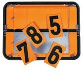 Paneel gevaarlijke stoffen, met cijfer set, inklapbaar, oranje, plaatstaal, 400 x 300 mm