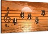 Canvas schilderij Muziek   Goud, Geel, Bruin   140x90cm 1Luik