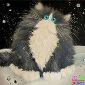 "Diamond Painting ""JobaStores®"" Crazy Cats 12 - volledig - 30x30cm"