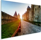 Kathedraal Saint Michel in het Franse Carcassonne Plexiglas 90x60 cm - Foto print op Glas (Plexiglas wanddecoratie)