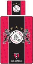 Ajax dekbedovertrek - Rood/Zwart - eenpersoons (140x200 cm + 1 sloop)