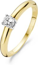 Blush Ring 1067BZI -  Geel en Wit Goud (14Krt.) met Zirconia