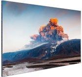 Vulkaan schoonheid van de natuur Aluminium 120x80 cm - Foto print op Aluminium (metaal wanddecoratie)