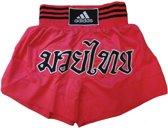 adidas Kickboksshort STH02 Shock Red/Zwart Small