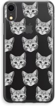 iPhone XR Transparant Hoesje (Soft) - Kitten