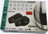 motor headset Bluetooth intercom interphone 500meter 2 modules FDC-01 een compleet systeem