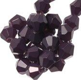 Facetkralen Bicone (6 mm) Dark Grape (50 Stuks)