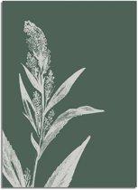 Vintage bloem blad pampa's gras poster Designclaud - Puur Natuur Botanical - Groen - A4 poster