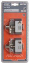 Nemef veiligheidsdruksluiting 2566/4 - F1 - Gelijksluitend - Afsluitbaar met sleutel - SKG* - Met 2 sleutels - 2 druksluitingen in verpakking