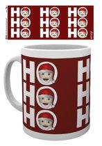 Emoji Ho Ho H0 Mok - Kerst - 300 ml
