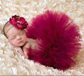 LeuksteWinkeltje Tutu met haarband - Rood - Prinses kledingset - newborn fotoshoot