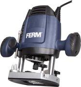 FERM Bovenfrees 1200W - 6, 8 mm - Variabele snelheid - Incl. 3-delige frezenset, kopieerring