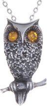 Ketting Owl Crystal gold crystal
