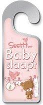Sssttt... Baby Slaapt - It's A Girl Deurhanger Metaal