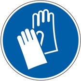 Gebodssticker  'Veiligheidshandschoenen dragen', ISO 7010