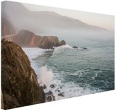Kliffen Amerika Canvas 30x20 cm - klein - Foto print op Canvas schilderij (Wanddecoratie woonkamer / slaapkamer)