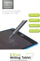 """WTB-100, 8.5 """" Tekentablet voor kinderen, LCD, drukgevoelig, maximaal twee jaar batterij, blauw"""