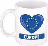 Hartje Europa mok / beker 300 ml