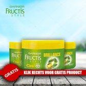 Garnier Fructis Style Brillance Haarwax 75ml - Cire 02 - 3 Pack Voordeelverpakking + Gratis Oral Care Kit