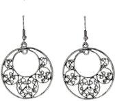Behave® Oorbel hanger zilver kleur 5,5 cm