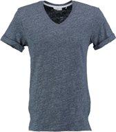 Minimum langer stevig zacht blauw slim fit t-shirt - Maat S