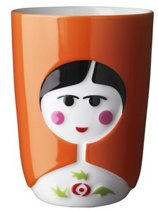 QDO 3D Thermo Kop 'Babushka' - Oranje