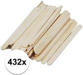 432 naturel ijsstokjes knutselhoutjes 11 x 1,1 cm - houten knutselstokjes