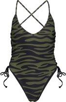 Amazoness Bathingsuit Lace Up Dames Badpak - Print