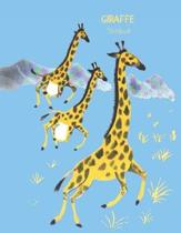 Giraffe Notebook: Primary Composition Book For Kids Cute Animal Cover Blue