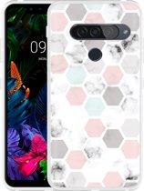 LG G8S ThinQ Hoesje Marmer Honeycomb