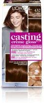 L'Oréal Paris Casting Crème Gloss Haarverf - 432 Midden Goud Parelmoerbruin